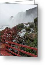 The Stairs To The Cave Of The Winds - Niagara Falls Greeting Card