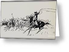 The Stampede Greeting Card
