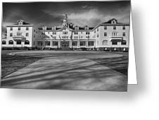 The Stanley Hotel Bw Greeting Card