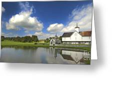 The Star Barn After The Storm Greeting Card