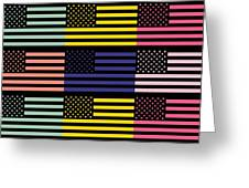 The Star Flag Greeting Card by Tommytechno Sweden