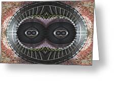 The Stare Greeting Card by Debra and Dave Vanderlaan