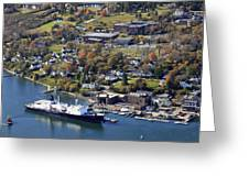 The State Of Maine At The Pier Of Maine Greeting Card