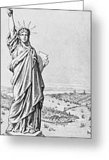 The Statue Of Liberty New York Greeting Card