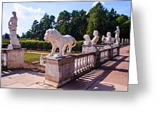 The Statues Of Archangelskoe Estate. Russia Greeting Card