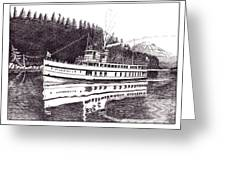The Steamer Virginia V Greeting Card