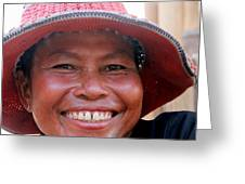 The Sticky Rice Lady Greeting Card