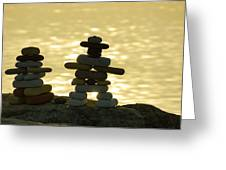 The Stone Couple Greeting Card