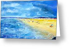 The Storm Arrives At The Beach Greeting Card