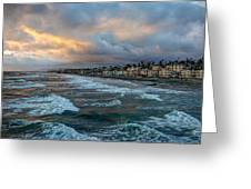 The Storm Clouds Roll In Greeting Card