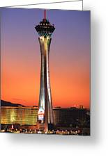 The Stratosphere Tower In Las Vegas Greeting Card