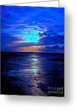 The Stream Of Night Greeting Card by Q's House of Art ArtandFinePhotography