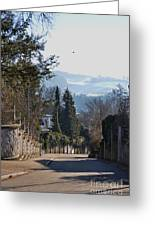 The Street In Upper Town 2 Greeting Card
