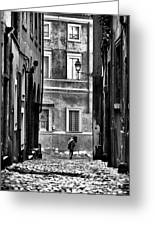 The Streets Of Roma Greeting Card