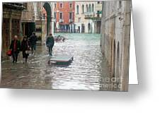 The Streets Of Venice Greeting Card