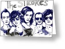 The Strokes Greeting Card by Mils Gan