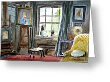 The Studio Of Juliet Pannett Greeting Card