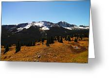 The Sugar Coated Mountains Greeting Card