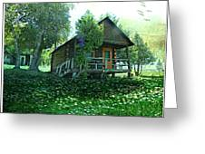 The Summer Cabin Greeting Card by Dianne  Lacourciere