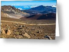 The Summit Of Haleakala Volcano In Maui. Greeting Card