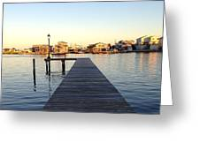 The Sun Begins To Set On Long Beach Island Greeting Card