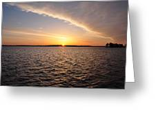 The Sun Coming Up On The Chesapeake Greeting Card