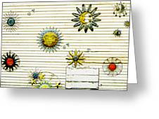 The Sun Moon And Stars Greeting Card