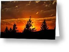 The Sun Retreats Greeting Card