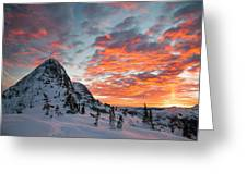 The Sun Rises, Illuminating The Sky Greeting Card