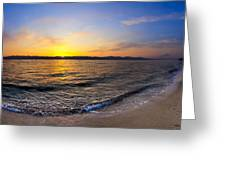 The Sun Rises Over The Red Sea In Egypt Greeting Card