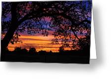The Sun Sets For Mike Greeting Card