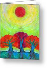 The Sun Three Greeting Card