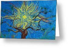 The Sun Tree Greeting Card