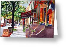 The Sunlit Shops Greeting Card