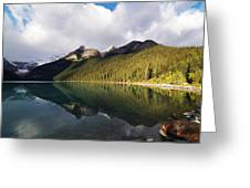 The Sunny Side Of Lake Louise Greeting Card