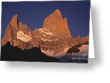 The Sunrise Of Fire Mt Fitzroy Greeting Card