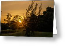 The Sunset In The Mountain IIi Greeting Card