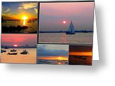 The Sunsets Of Long Island Greeting Card