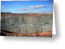 The Super Pit Greeting Card by Carl Koenig
