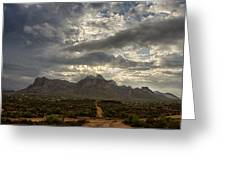 The Superstition Mountains After A Storm  Greeting Card