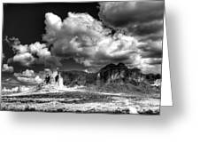 The Superstitions - Black And White  Greeting Card