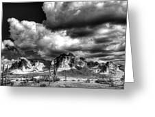 The Supes In Black And White  Greeting Card