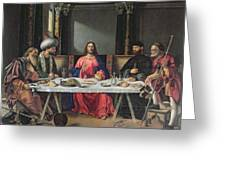 The Supper At Emmaus Greeting Card by Vittore Carpaccio