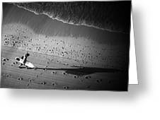 The Surfer's Steps Greeting Card