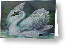 The Swan Also Rises Greeting Card