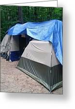 The Tail Of 2 Tents Greeting Card
