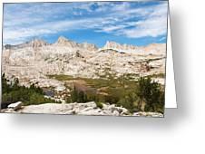 The Tall Peaks Of Granite Park Greeting Card