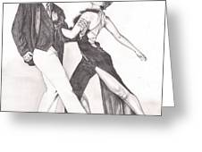 The Tango Greeting Card by Beverly Marshall