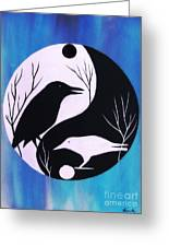 The Tao Of Crow Greeting Card