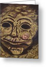 The Tattoed Mask Greeting Card